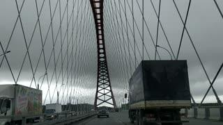 Beautiful bridge in Novosibirsk