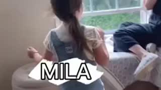 Litsa surprises the kids!