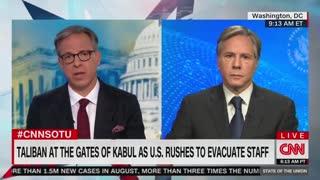 Jake Tapper presses Blinken on Afghanistan exit