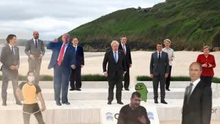 Trump gatecrashes G7 summit...Featuring Putin and Pepe...