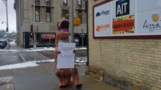 Support Small Business Dinosaur Dance