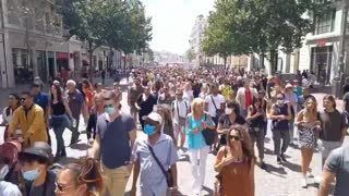 Marseille, France: Protests Erupt After Macron Announces Mandatory Vaccinations, Health Passes
