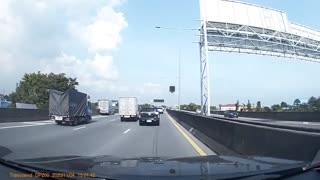 Chair on Highway Causes Crash