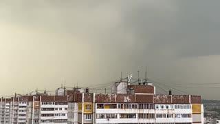 Start of a thunderstorm