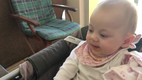 """Baby accidently performs the """"spit and slurp"""""""