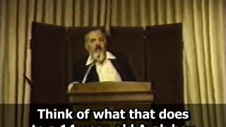 Rabbi Meir Kahane - Address in Lincolnwood, Chicago