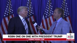 RSBN Interview with President Trump After Big Tech Lawsuit Announcement
