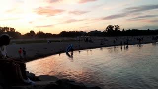 Canaidian beach sunset during quarantine