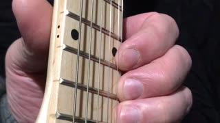 Guitar Theory - Using 4 Fingers To Fret 4 Adjacent Notes On One String - 3 Half-Steps