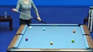 Beautiful Female Billiard Player, Ho Hsin Ju!