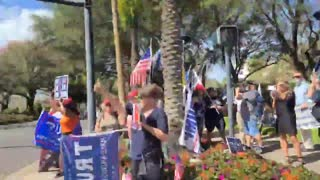 """""""MASSIVE"""" Crowds Outside To Welcome President Trump At CPAC"""