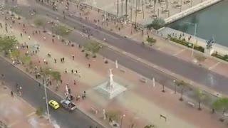 Enfrentamientos tras protestas en Cartagena