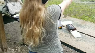 Shooting with daughter