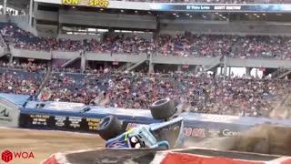 Crazy Monster Truck Freestyle Moments #2 _ Monster Jam highlight Craziest Crashes 2020 _Woa Doodles
