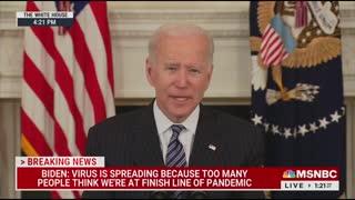 Watch Biden Slur Speech Telling Americans To Get Vaccine