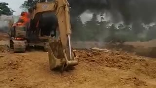 China's investment in illegal mining destroyed by Ghanaian government