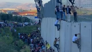 Lebanese at the Border with Palestine