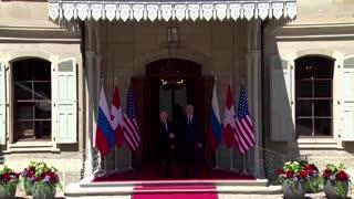 Putin lands in Geneva for Biden summit