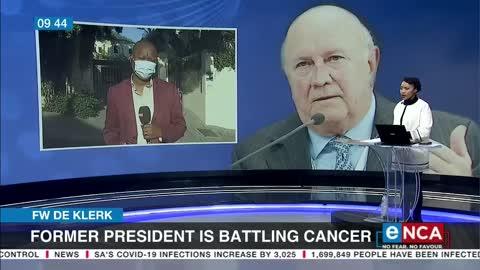 FW de Klerk battling cancer
