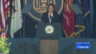 Kamala Harris Tells TERRIBLE Joke to Naval Grads, NOBODY Laughs