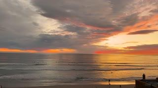 California Ocean Surfer Sunset Timelapse - see the Sailboat?