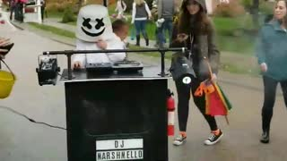 Disco Ball Baby Halloween Costume with DJ Marshmello