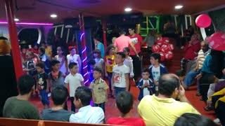 Little Boys Dance Contest In Floating Ship Ras El Bar