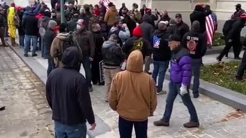 Angry American and Trump Supporter asks for back up