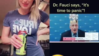 Dr fauci talking on live television comedy