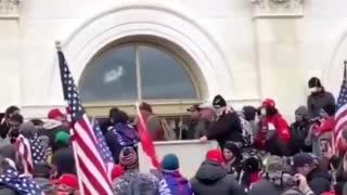 Antifa Breaking Glass at Capitol, Trump Protesters Saying Stop Antifa