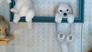 Dog automatons in a spécialisés dog park