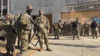 Day After Inauguration - National Guard troops continue arriving to DC (NR)