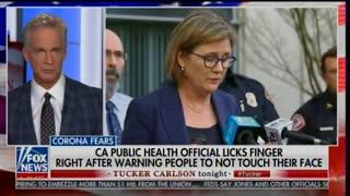 Tucker Carlson claims congressional staffer coronavirus