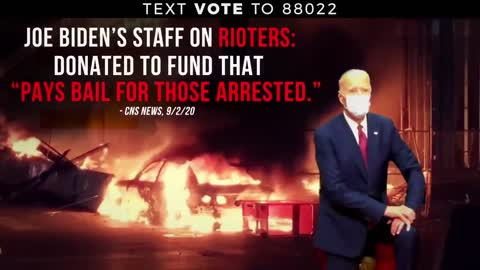 Trump ad showing support for Law and order 19