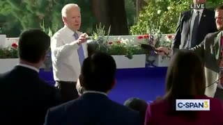 Joe Biden snaps at ABC's Kaitlin Collins for actually asking questions.