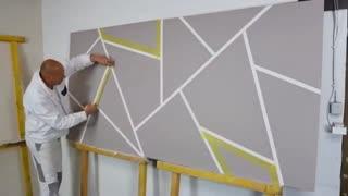 Geometric wall painting ideas 2021