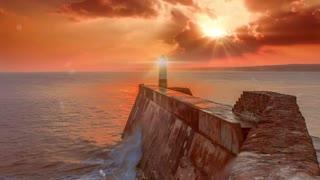 Lighthouse Binary Sunset