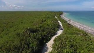 nature Sea waves & beach drone video