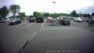 Shopping Carts Collide with Cars