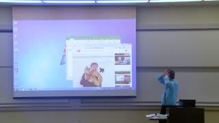 Math Professor fixing projector screen Prank