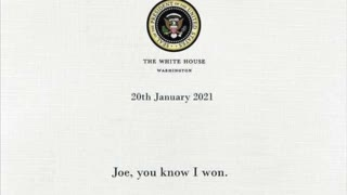 Donald Trump letter to Joe Biden