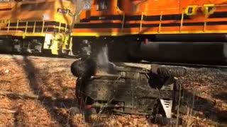 Train Takes Out Razor