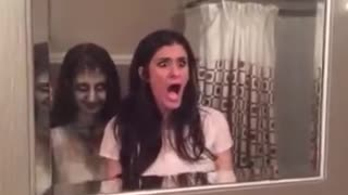 She got scared but NOT by the ghost, then what??