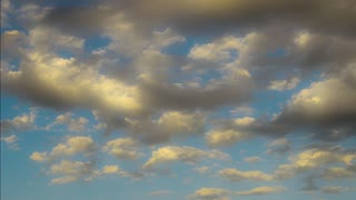 Slow moving clouds