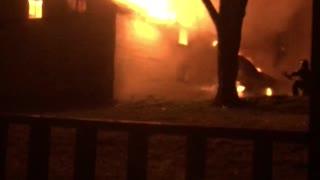 House fire next door