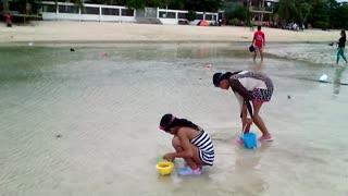 Children's Paradise in San Remegio, Cebu, Philippines, White Sand Beach