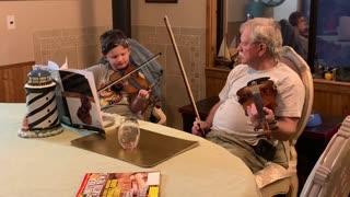 Violin with grandpa