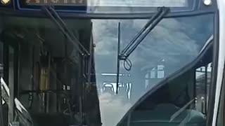 Protesta de buses de Transcaribe