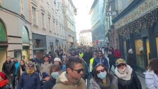 Austrians Protest Against Tyrannical Lockdown Measures
