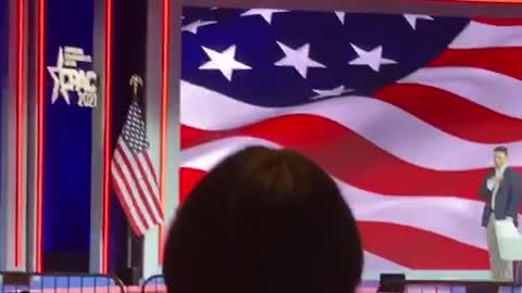 Landon Starbuck sings The National Anthem at CPAC 2021